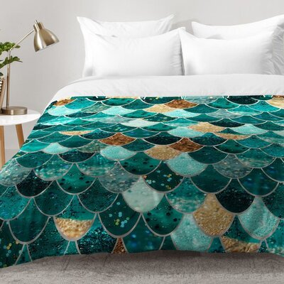 Really Mermaid Comforter Set Size: King