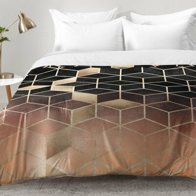 Ombre Cubes Comforter Set Size: Twin XL