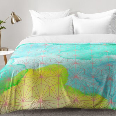 Geometric Summer Comforter Set Size: King