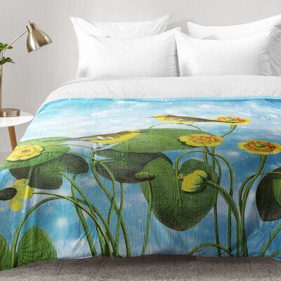 Love Chirp On Water Lilies Comforter Set Size: Twin XL