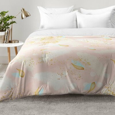 Abstract Painting with Feather Strokes Comforter Set Size: King