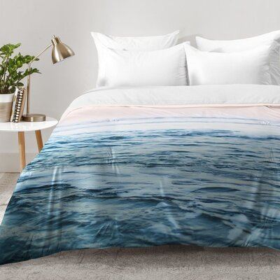 Leah Flores Pacific Ocean Waves Comforter Set Size: King