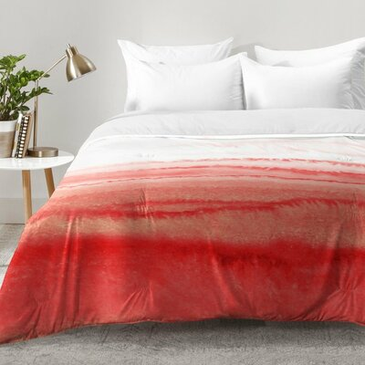 Monika Strigel Within The Tides Peach Echo Comforter Set Size: King