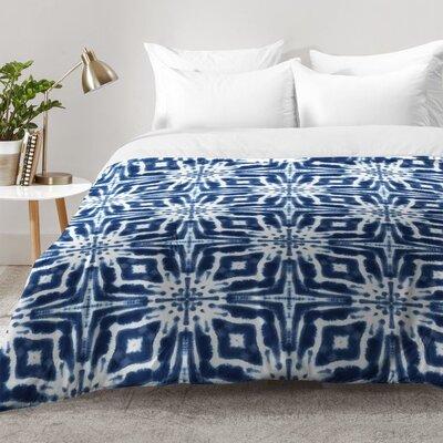 Watercolor Shibori Indigo Comforter Set Size: King