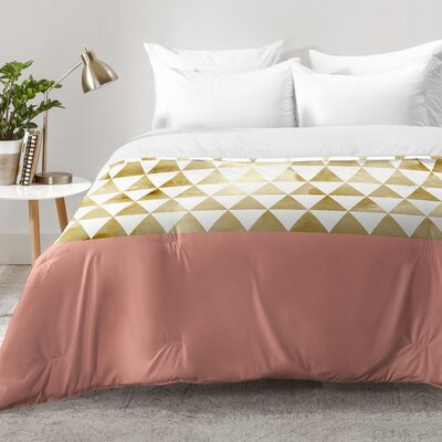 Triangles Comforter Set Size: King