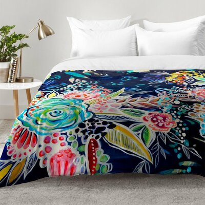 Stephanie Corfee Night Bloomers Comforter Set Size: Twin XL