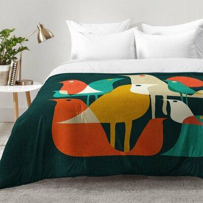 Budi Kwan Flock Of Bird Comforter Set Size: Full/Queen