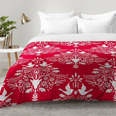 Christmas Paper Cutting Comforter Set Size: Full/Queen