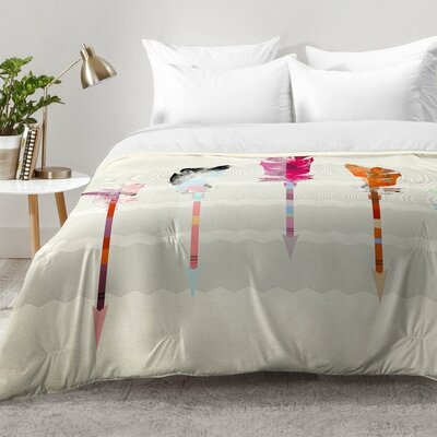 Feathered Arrows Comforter Set Size: Full/Queen