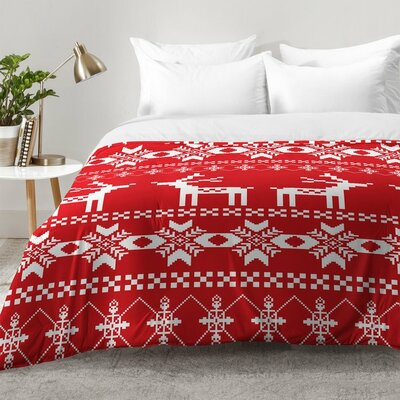 Natt Christmas Deer Comforter Set Size: Full/Queen