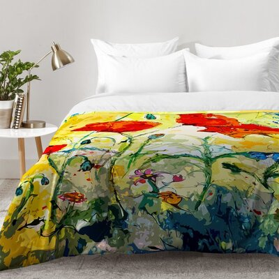 Poppies Provence Comforter Set Size: Full/Queen