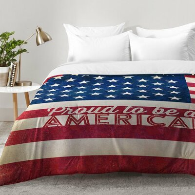 Proud To Be An American Flag Comforter Set Size: Full/Queen
