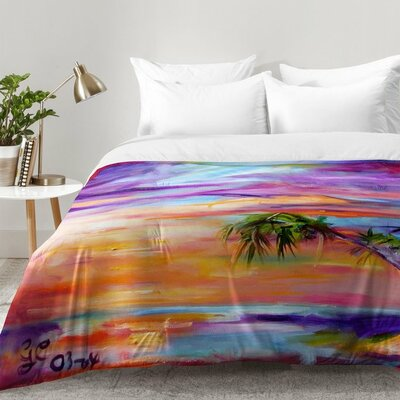 Florida Palms Beach Comforter Set Size: Full/Queen