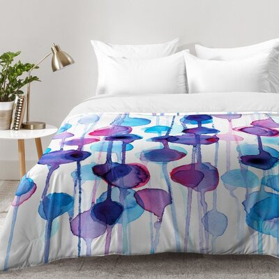 Watercolor Comforter Set Size: King