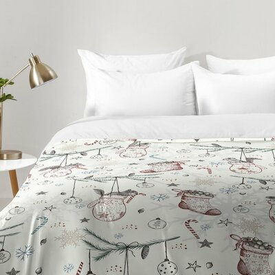 Squirrel Heavenly Christmas Comforter Set Size: Twin XL