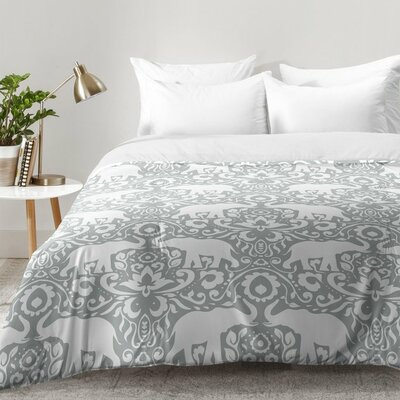 Elephant Damask Paloma Comforter Set Size: King