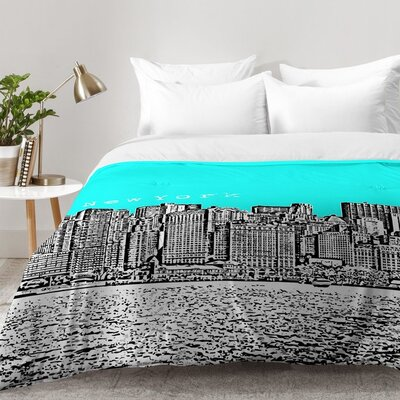 Bird Ave New York Aqua Comforter Set Size: Twin XL