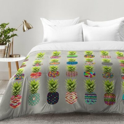Pineapple Party Comforter Set Size: King