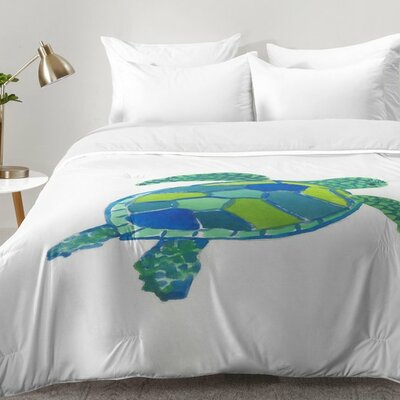 Sea Turtle Comforter Set Size: King
