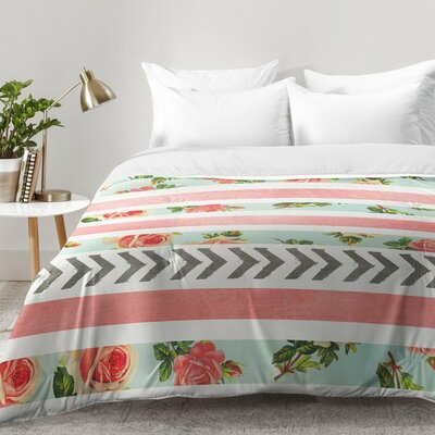 Allyson Johnson Floral Stripes and Arrows Comforter Set Size: Twin XL