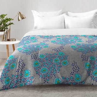 Boho Floral Comforter Set Size: King