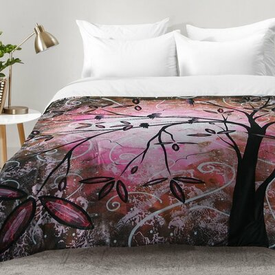 Madart Inc Cherry Blossoms Comforter Set Size: Full/Queen