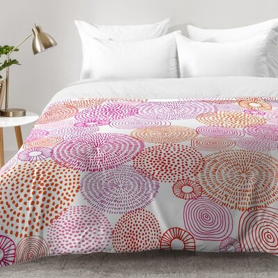 Camilla Foss Circles In Colours I Comforter Set Size: Full/Queen