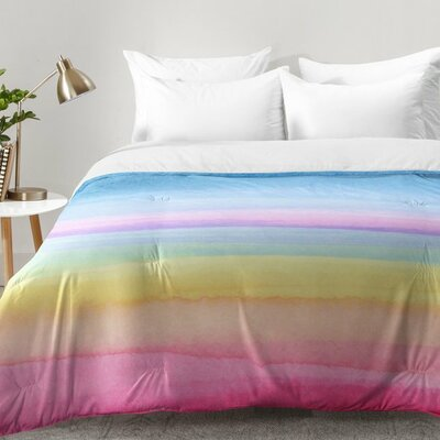 Joy Laforme Rainbow Ombre Comforter Set Size: Full/Queen