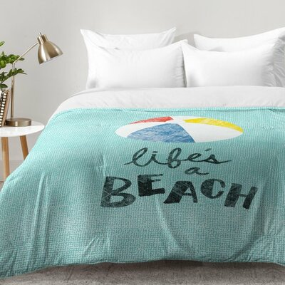 Nick Nelson Lifes A Beach Comforter Set Size: Full/Queen