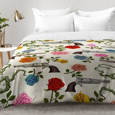 Sweet Guns and Roses Comforter Set Size: King