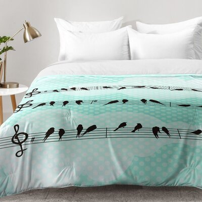 Musical Nature Comforter Set Size: Full/Queen