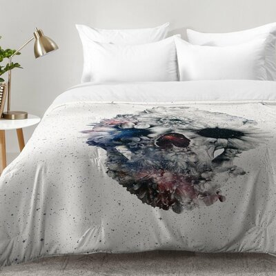 Floral Skull 2 Comforter Set Size: Twin XL