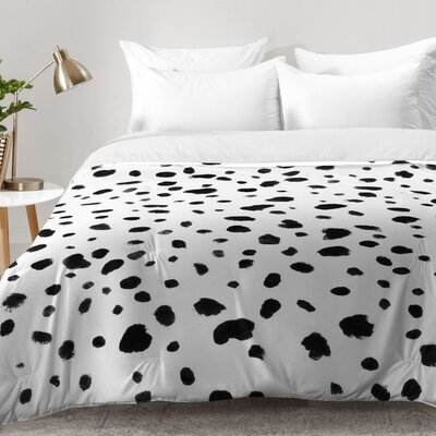 Rebecca Allen Miss Monroes Dalmatian Comforter Set Size: Full/Queen