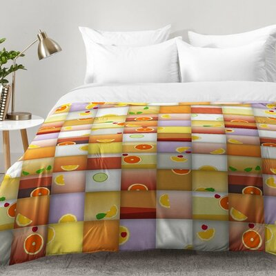 Cocktail Squares Comforter Set Size: King