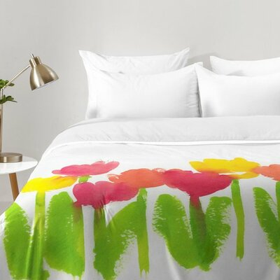 Laura Trevey Bright Tulips Comforter Set Size: King