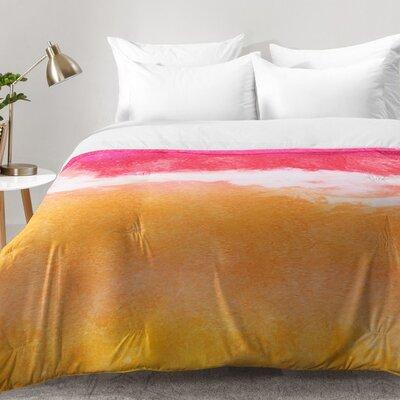 Laura Trevey Tangerine Tie Dye Comforter Set Size: Full/Queen