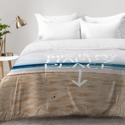 Happy Place X Beach Comforter Set Size: Full/Queen