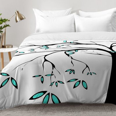 Garden Delight Aqua Breeze Comforter Set Size: Full/Queen