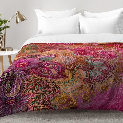Flourish Berry Comforter Set Size: King