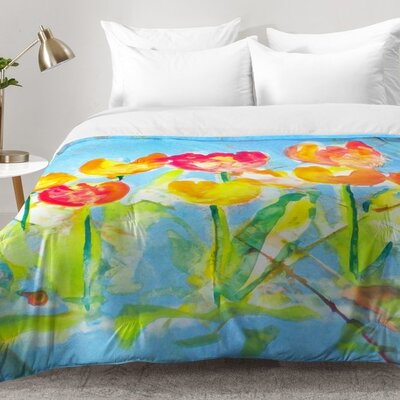 Spring Tulips Comforter Set Size: Twin XL