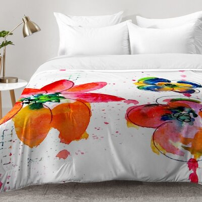 Summer In Watercolor Comforter Set Size: Full/Queen