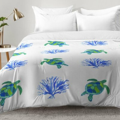 Sea Turtles Comforter Set Size: King