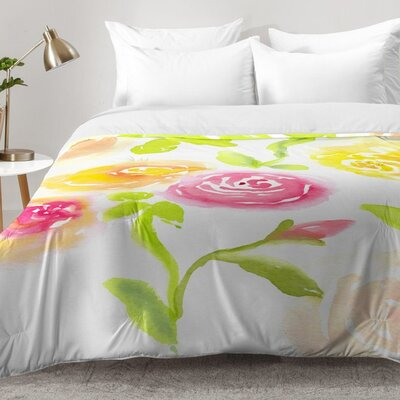 Candy Colored Blooms Comforter Set Size: King