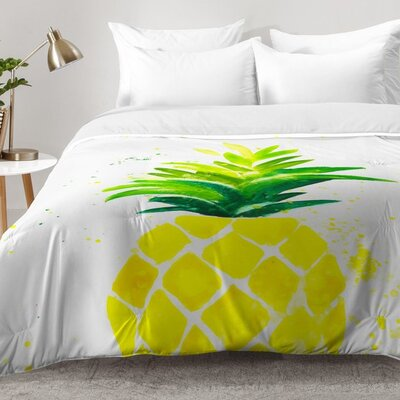 Pineapple Sunshine Comforter Set Size: Full/Queen