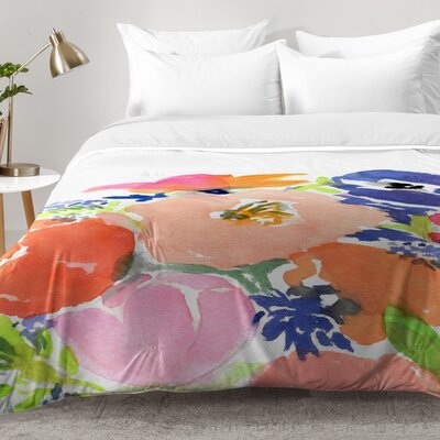 Laura Trevey Floral Frenzy Comforter Set Size: Full/Queen