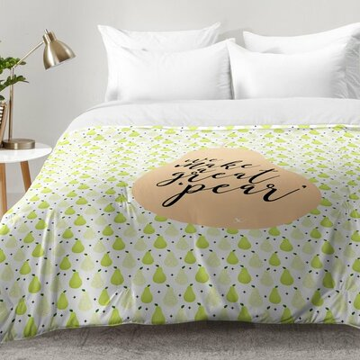 We Make a Great Pear Comforter Set Size: King