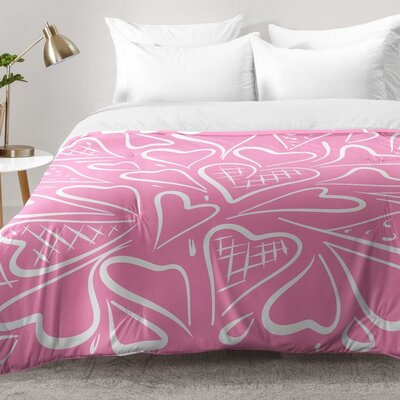 Love Is In The Air Rose Comforter Set Size: Full/Queen