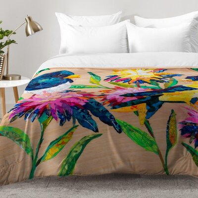 Nelson Birds and Blooms Comforter Set Size: Full/Queen