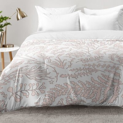 Herbs and Ferns Comforter Set Size: Twin XL, Color: Pink