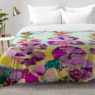 Nelson Hollyhocks Comforter Set Size: Full/Queen